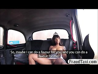 Ebony chick fucked by fake driver to pay for her fare