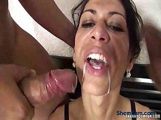 Tranny cumshot free shemale porn video