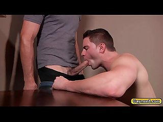 Jakes dick stroke by Jack before anal