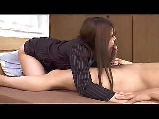 Happy House - Asian Office Slut is Creampied After Footjob and BJ
