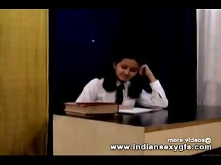 Horny hot indian pornstar babe as school girl squeezing big boobs and masturbating Part1 indiansex