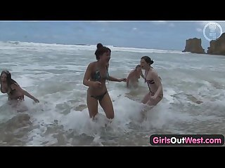 Girls out west nasty lesbian orgy at the beach