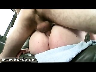 Straight guys caught kissing gay Young Studs Fuck On The Baitbus