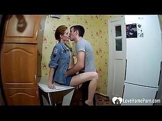 Russian wife gets properly dicked in the kitchen