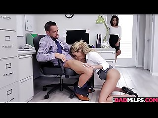 Isabelle Deltore takes her boss hog from behind!