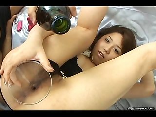 Hairy pussy vs red wine