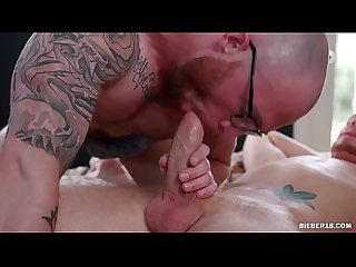 Tattooed gay man assfucked his lover
