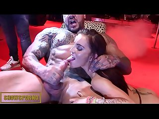 French petite tatooed girl fuck moster tatooed dick