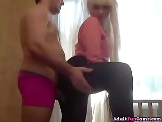 Baby-Faced Blonde Teen With Big Ass Sucks Cock And Gets Fucked