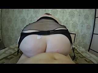 Thick milf rides on a girlfriend her big ass shakes huge tits swing lesbians pov