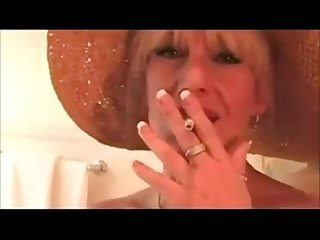 Busty mom smoking, teasing and fucking