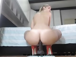 MILF Stretching Her Ass With A Dildo...