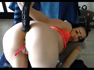 18 year Old Russian slut does hard Anal big gaping on cam analcams period com