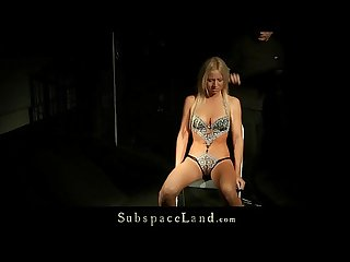 Rough Sex And Kinky Bdsm Cum For Blonde Slave
