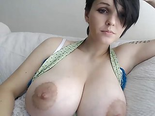 Girl with huge tits and short hair playing with her pussy pussyfield com