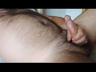 Hairy mature jerking off to relax