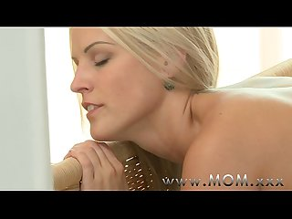 Mom blonde milf loves his big cock
