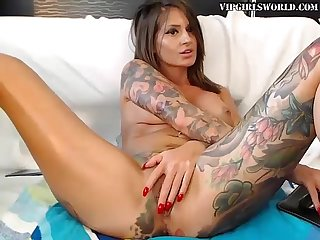 Tattoos and a dildo make the perfect combination vipgirlsworld com