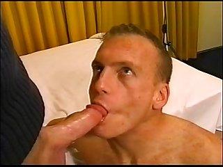 Gay bareback cum eating