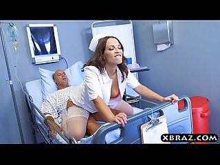 Big ass nurse beauty Lily Love rides patients big dick