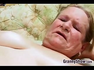 Fat and hairy grandma getting fucked