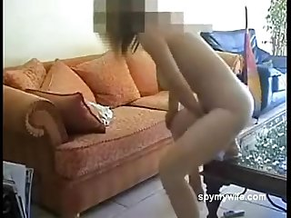 Wife masturbating on the sofa 023