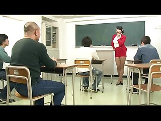 Miwako yamamoto teacher teaches students Blowjob courses