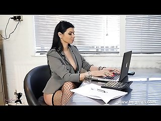 Boss bitch turn office boy to foot slave