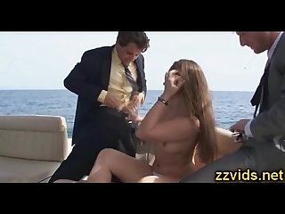 Dani daniels threesome on the boat
