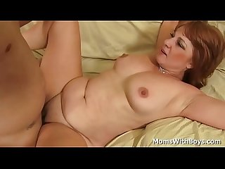 Horny redhead mature momita Calliste gets fucked in various positions