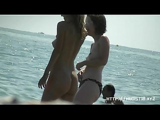 Gorgeous amateur nudists on hidden beach cam voyeur Video