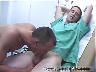 Male doctor male patient exam with injection video gay full length he