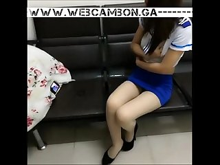 Www webcambon ga masked asian in school uniform masturbating on school bench