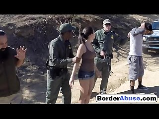 Petite latina gets fucked by the law when they caught her on border