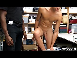 Latino Twink Fucked By Big Black Cock Security Officer