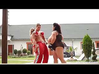 Fat girls get boxing lessons and fuck the instructor