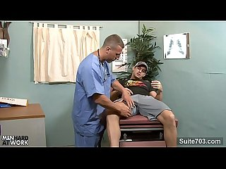 Gay patient gets fucked by doctor in the office