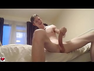 white boy big cock wank