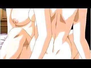 Lesbian hentai tribbing and fucking
