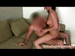 Euro girlnextdoor pounded by agents cock