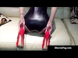 Hot Housewife Shanda Fay Gets Horny With Red Fuck Me Shoes!