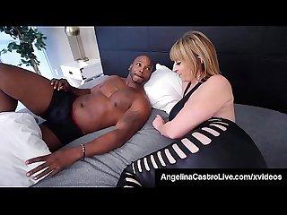 Cuban BBW Angelina Castro & Thick Thief Sara Jay Fuck BBC!