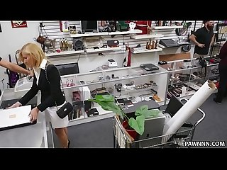 Blonde milf banged in the pawnshop Xxx pawn