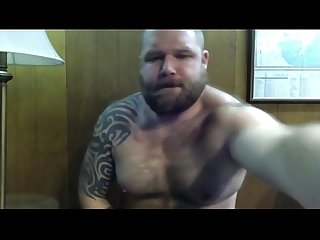Hot hairy bear gets off