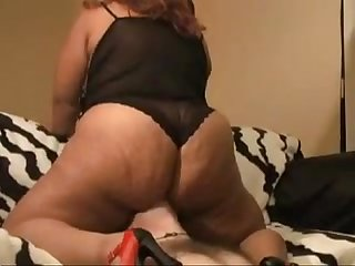 Bbw double face sit