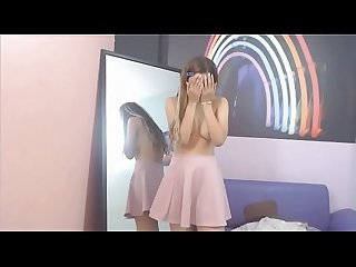 See me live for free at: AVIE.VEXCAMS.COM - Happy adolescent flasing her young..