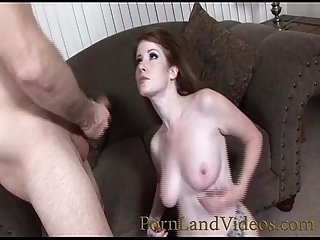 beautiful redhead with tiny wet pussy loves fucking