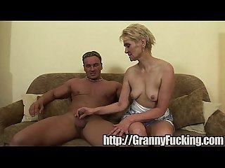 grandma takes the whole cock