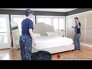 Soldier stepmom lauren phllips fucks her son on return from tour