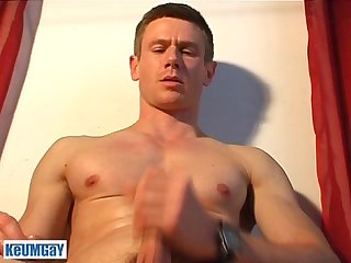 Jerome a very sexy gym guy gets wanked his hard cock by a guy